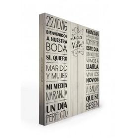 Photocall boda Madera 2 m.