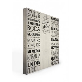 Photocall boda Madera